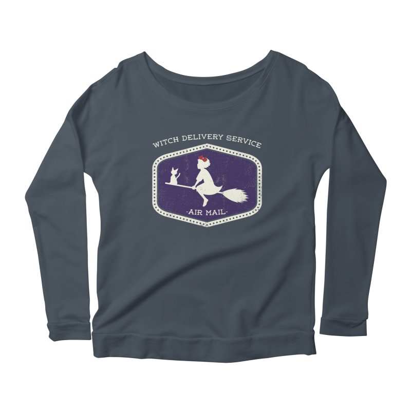 Witch Delivery Service Women's Scoop Neck Longsleeve T-Shirt by jasoncryer's Artist Shop