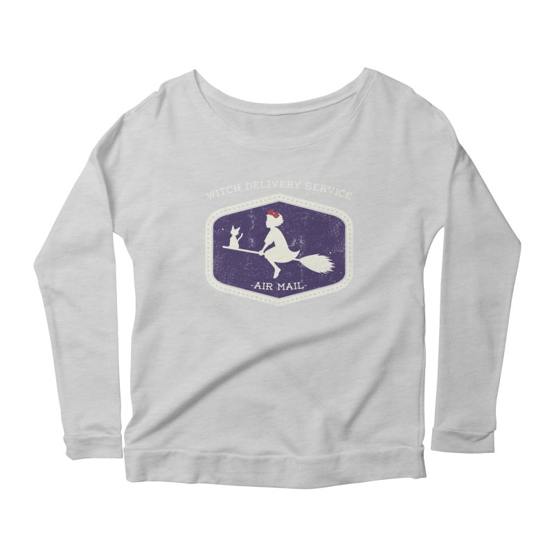 Witch Delivery Service Women's Scoop Neck Longsleeve T-Shirt by Jason Cryer
