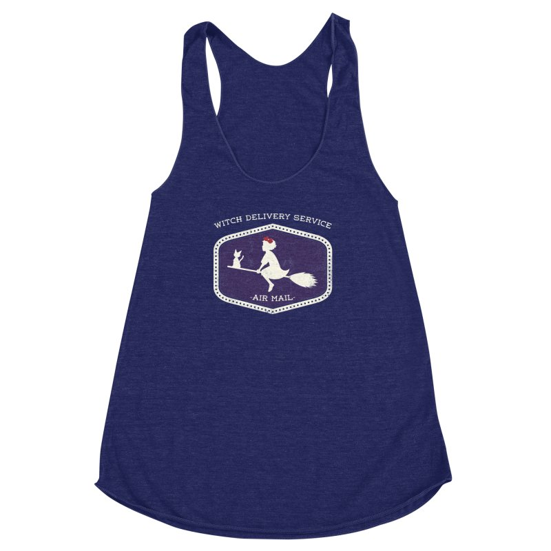 Witch Delivery Service Women's Racerback Triblend Tank by jasoncryer's Artist Shop