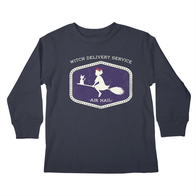 Witch Delivery Service Kids Longsleeve T-Shirt by jasoncryer's Artist Shop