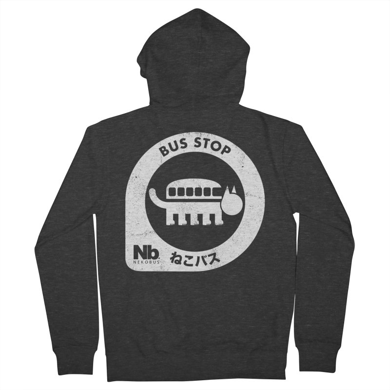 NekoBus Stop Men's French Terry Zip-Up Hoody by Jason Cryer