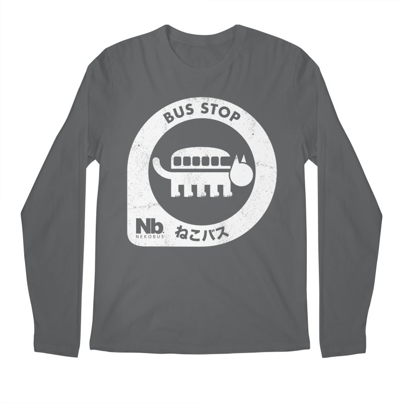 NekoBus Stop Men's Longsleeve T-Shirt by jasoncryer's Artist Shop