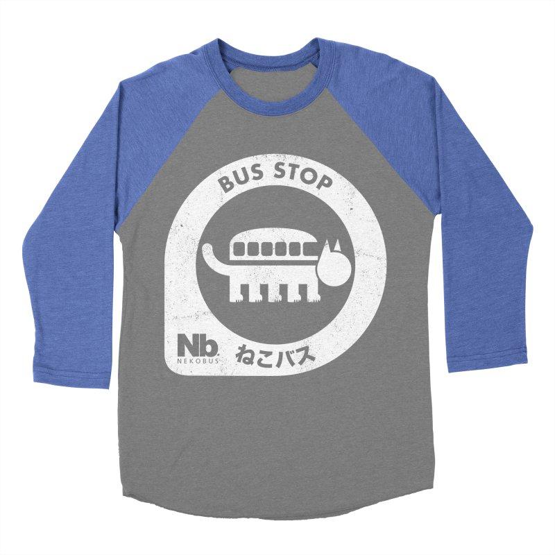 NekoBus Stop Women's Baseball Triblend Longsleeve T-Shirt by Jason Cryer
