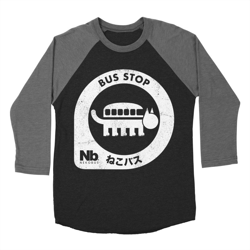 NekoBus Stop Women's Baseball Triblend Longsleeve T-Shirt by Jason Cryer