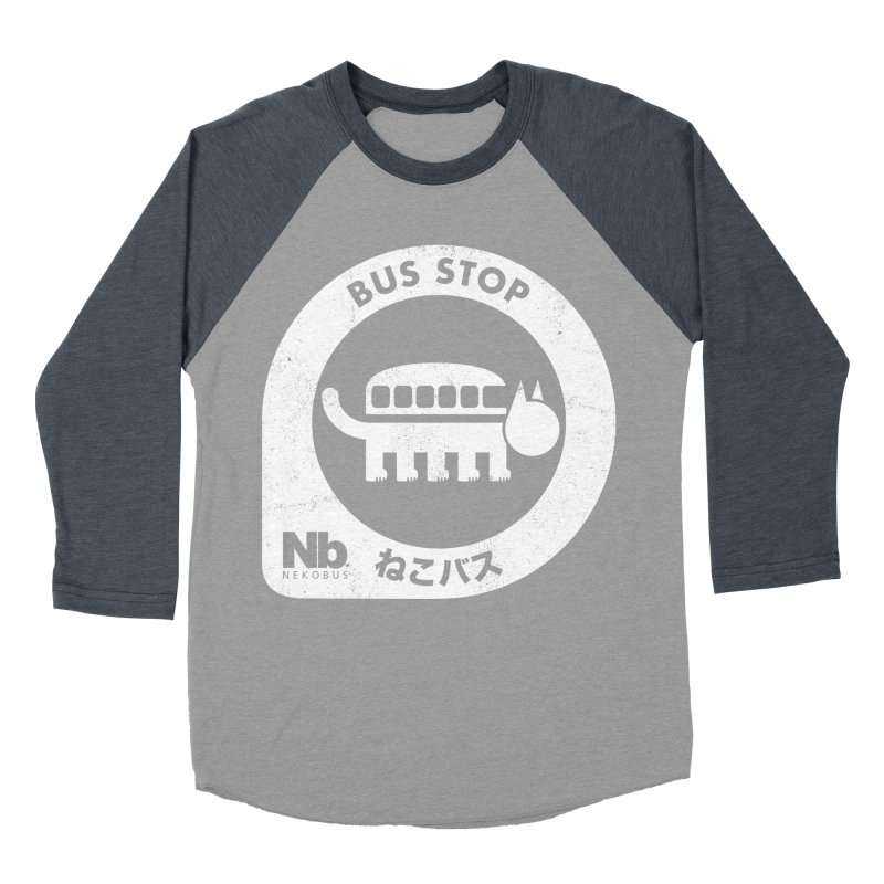 NekoBus Stop Men's Baseball Triblend Longsleeve T-Shirt by Jason Cryer