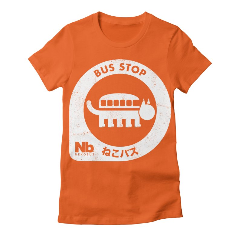 NekoBus Stop Women's Fitted T-Shirt by jasoncryer's Artist Shop
