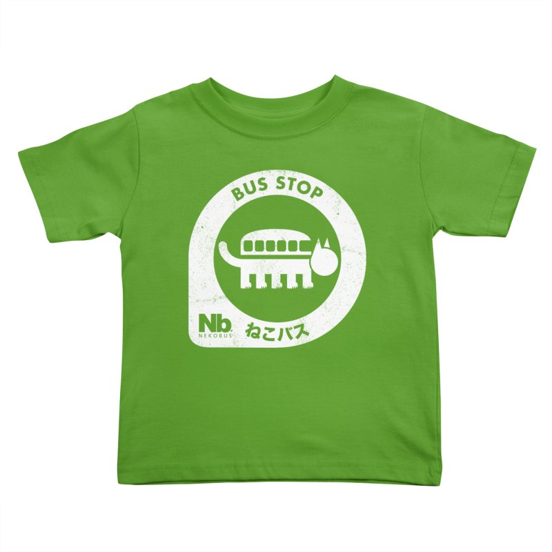 NekoBus Stop Kids Toddler T-Shirt by Jason Cryer