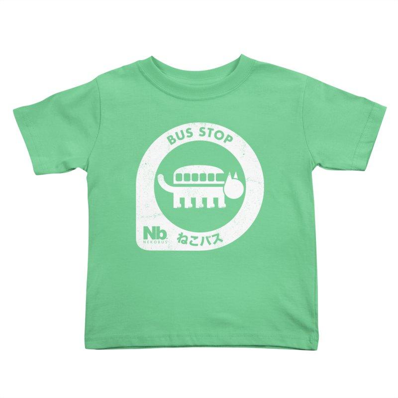 NekoBus Stop Kids Toddler T-Shirt by jasoncryer's Artist Shop