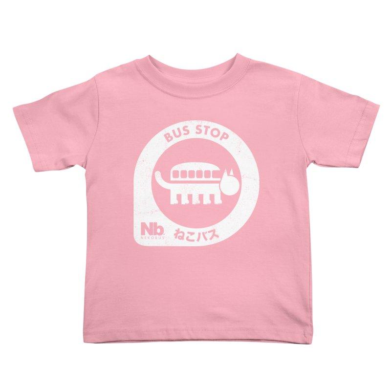 NekoBus Stop Kids Toddler T-Shirt by Jason Cryer