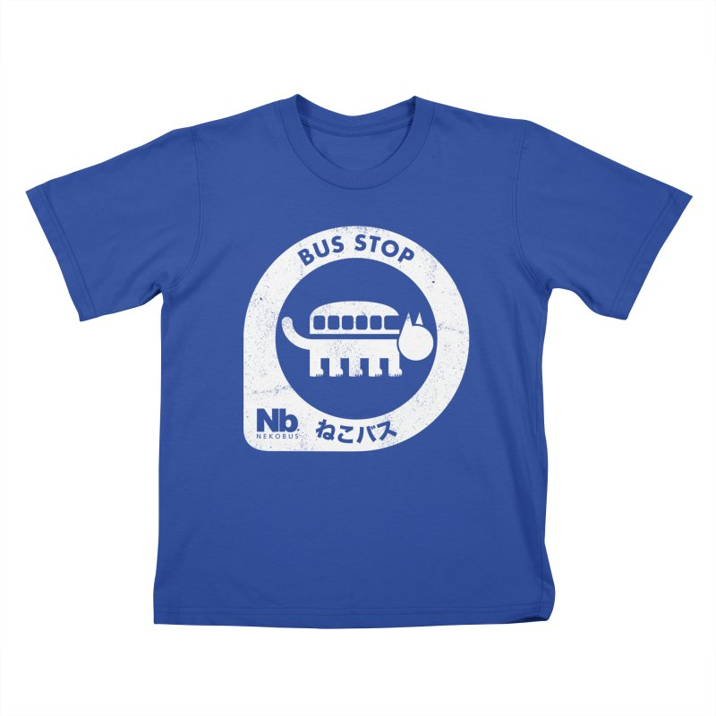 NekoBus Stop Kids T-Shirt by jasoncryer's Artist Shop