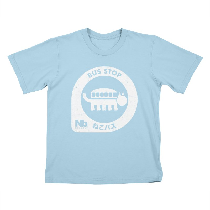 NekoBus Stop Kids T-shirt by jasoncryer's Artist Shop