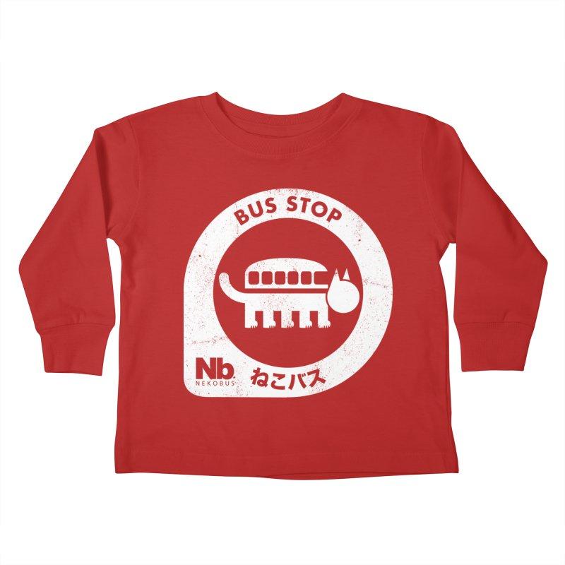 NekoBus Stop Kids Toddler Longsleeve T-Shirt by jasoncryer's Artist Shop