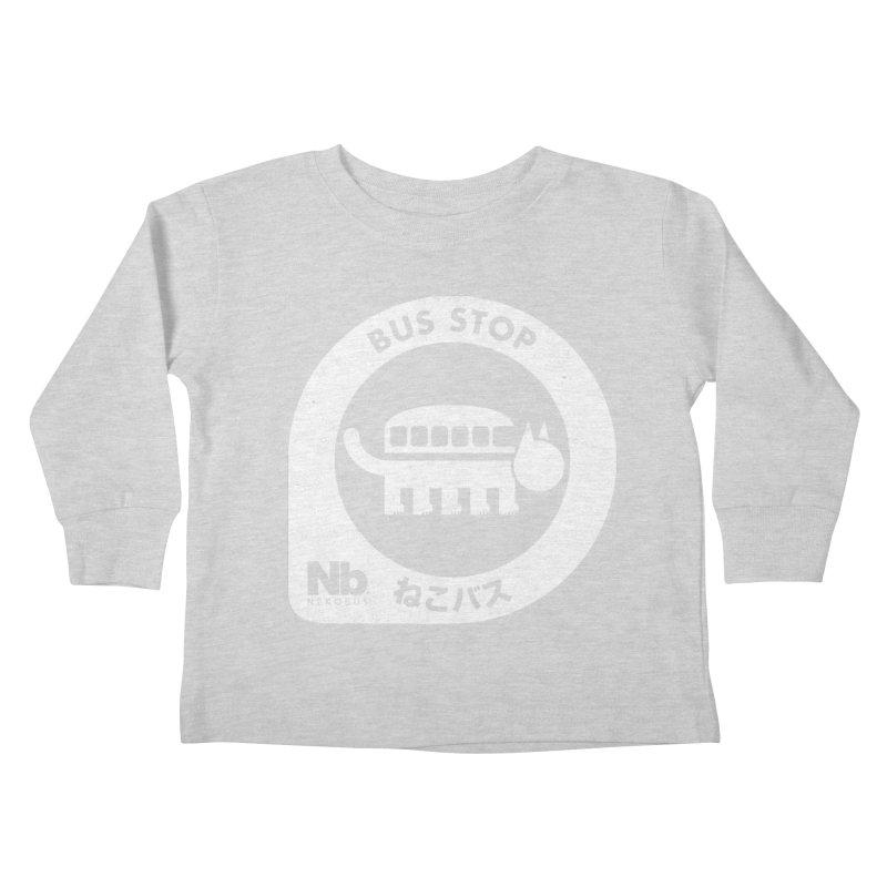 NekoBus Stop Kids Toddler Longsleeve T-Shirt by Jason Cryer