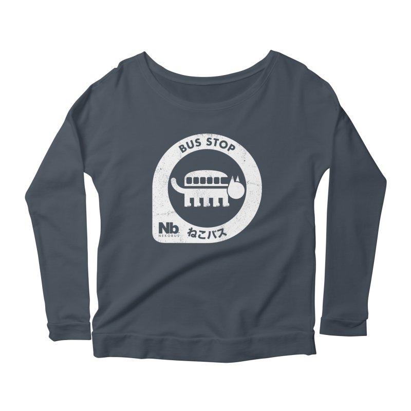 NekoBus Stop Women's Scoop Neck Longsleeve T-Shirt by Jason Cryer