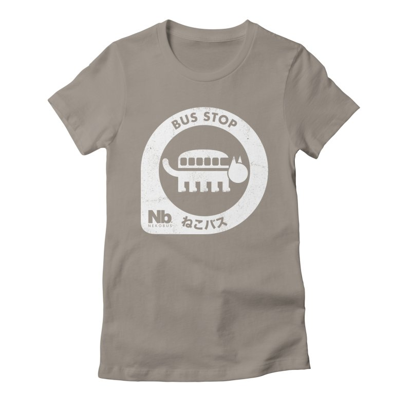NekoBus Stop Women's Fitted T-Shirt by Jason Cryer