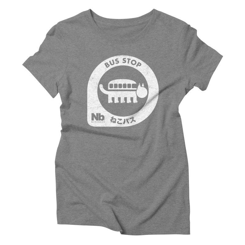 NekoBus Stop Women's Triblend T-Shirt by jasoncryer's Artist Shop
