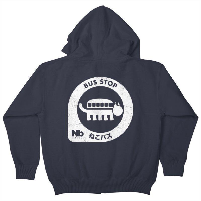 NekoBus Stop Kids Zip-Up Hoody by jasoncryer's Artist Shop
