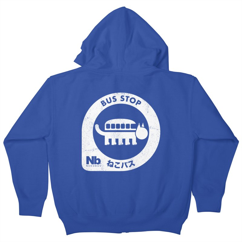 NekoBus Stop Kids Zip-Up Hoody by jasoncryer's Artist Shop
