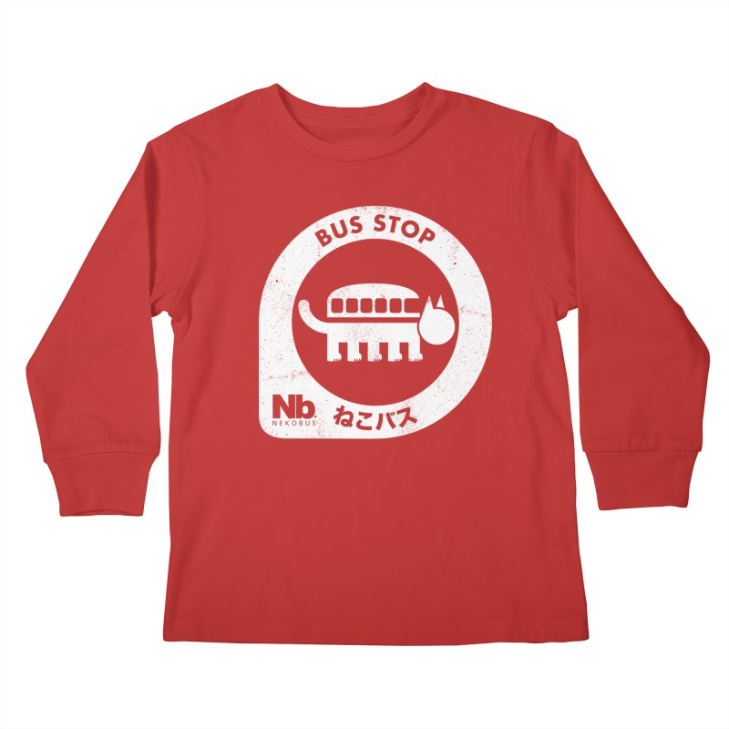 NekoBus Stop Kids Longsleeve T-Shirt by jasoncryer's Artist Shop
