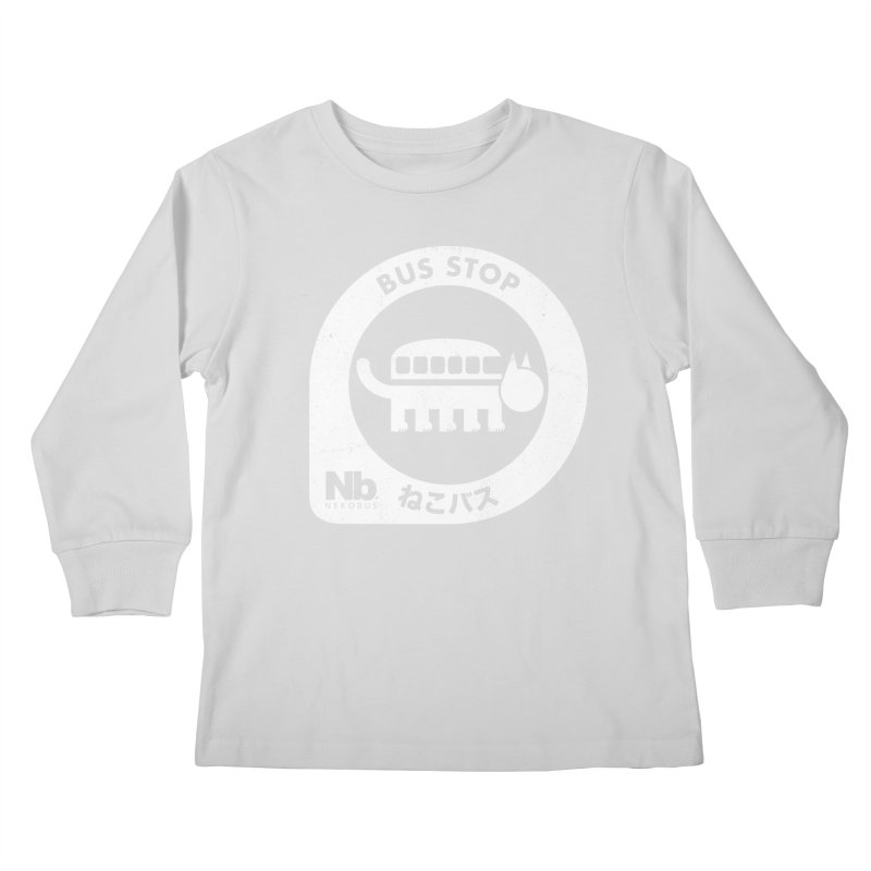 NekoBus Stop Kids Longsleeve T-Shirt by Jason Cryer