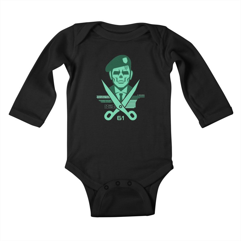 Scissors 61 Kids Baby Longsleeve Bodysuit by jasoncryer's Artist Shop