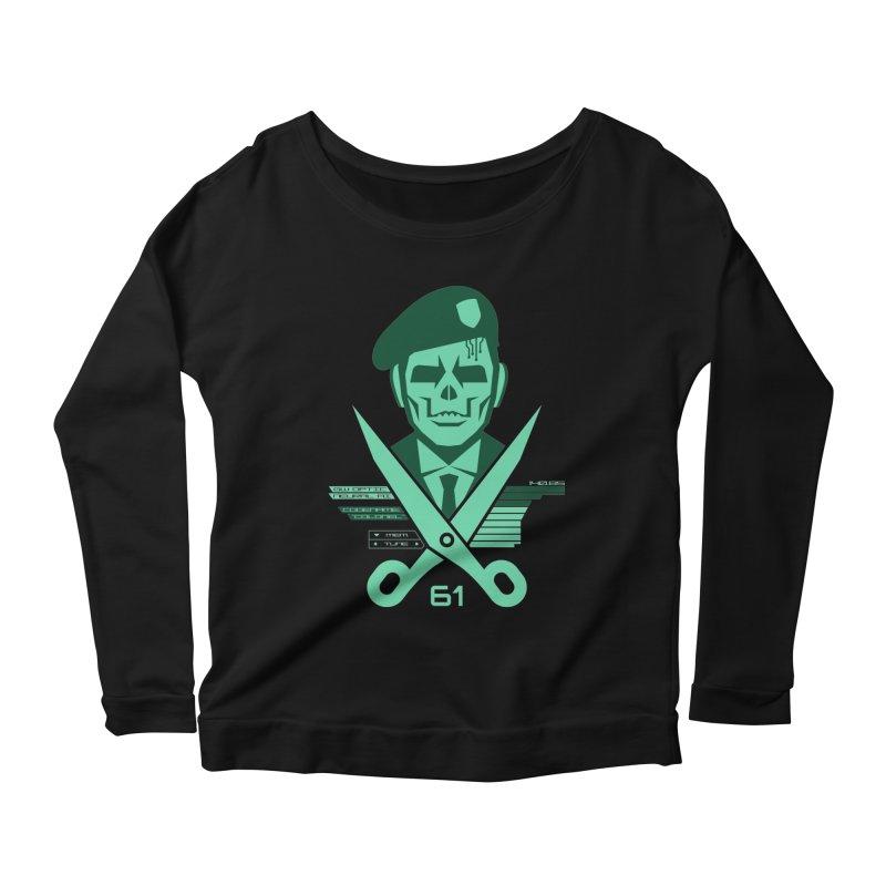 Scissors 61 Women's Scoop Neck Longsleeve T-Shirt by Jason Cryer