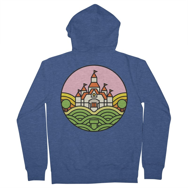 The Mushroom Kingdom Women's French Terry Zip-Up Hoody by Jason Cryer