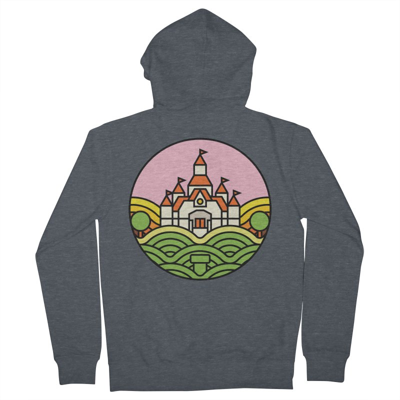 The Mushroom Kingdom Men's French Terry Zip-Up Hoody by Jason Cryer