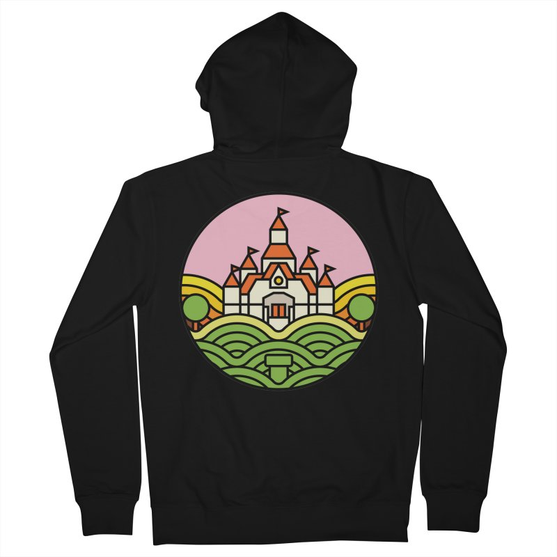 The Mushroom Kingdom Men's French Terry Zip-Up Hoody by jasoncryer's Artist Shop