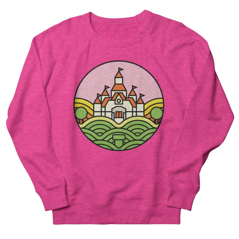The Mushroom Kingdom Women's French Terry Sweatshirt by Jason Cryer