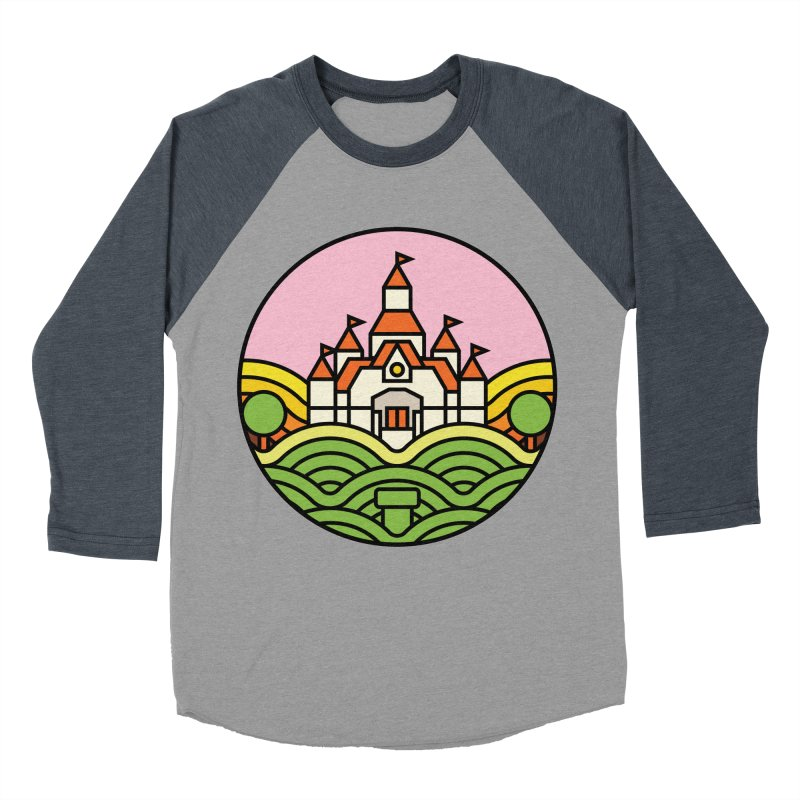 The Mushroom Kingdom Men's Baseball Triblend T-Shirt by jasoncryer's Artist Shop