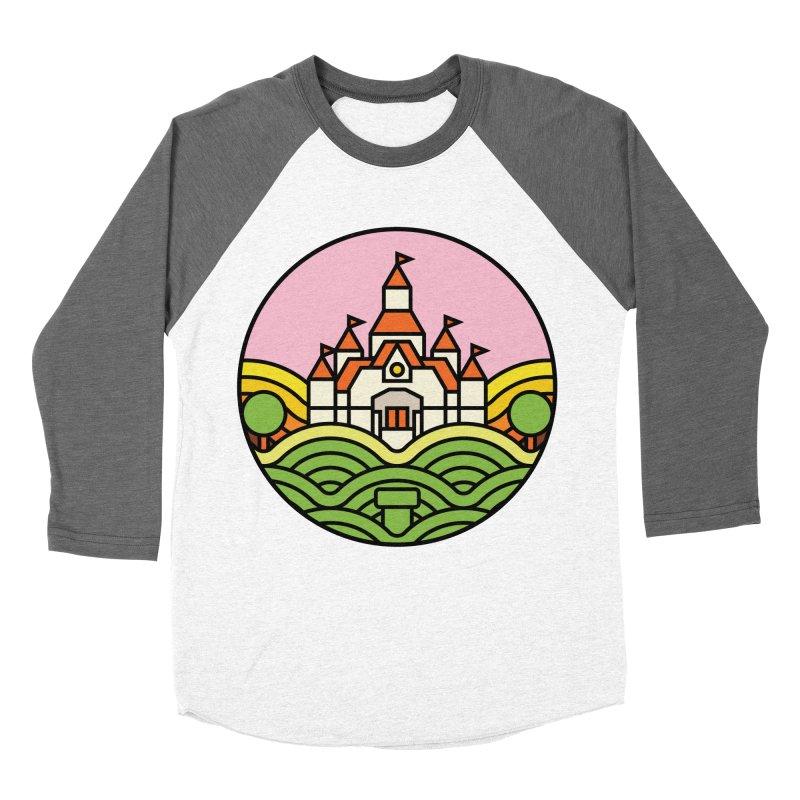 The Mushroom Kingdom Men's Baseball Triblend Longsleeve T-Shirt by jasoncryer's Artist Shop