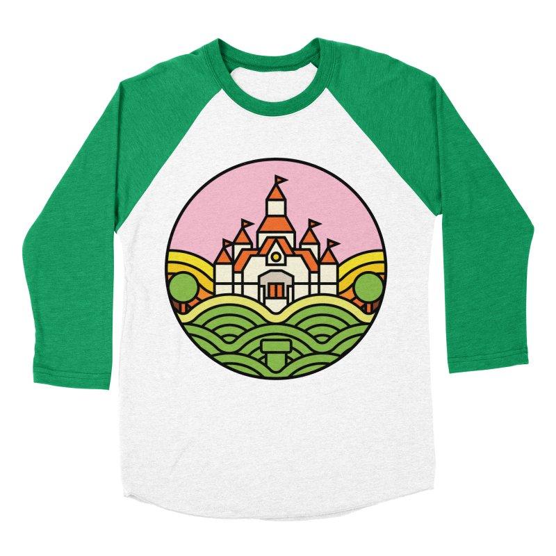 The Mushroom Kingdom Men's Baseball Triblend Longsleeve T-Shirt by Jason Cryer