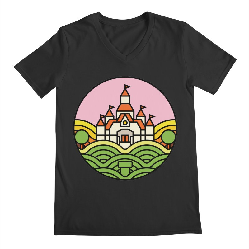 The Mushroom Kingdom Men's V-Neck by jasoncryer's Artist Shop