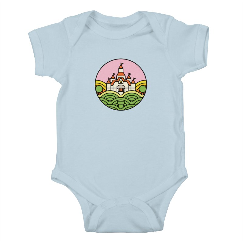 The Mushroom Kingdom Kids Baby Bodysuit by jasoncryer's Artist Shop