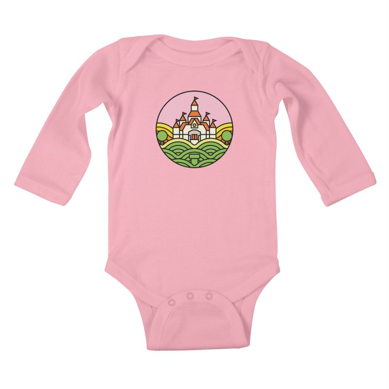 The Mushroom Kingdom Kids Baby Longsleeve Bodysuit by jasoncryer's Artist Shop