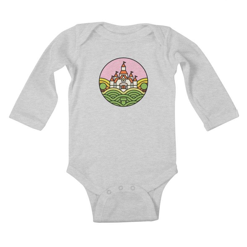The Mushroom Kingdom Kids Baby Longsleeve Bodysuit by jasoncryer's Artist Shop