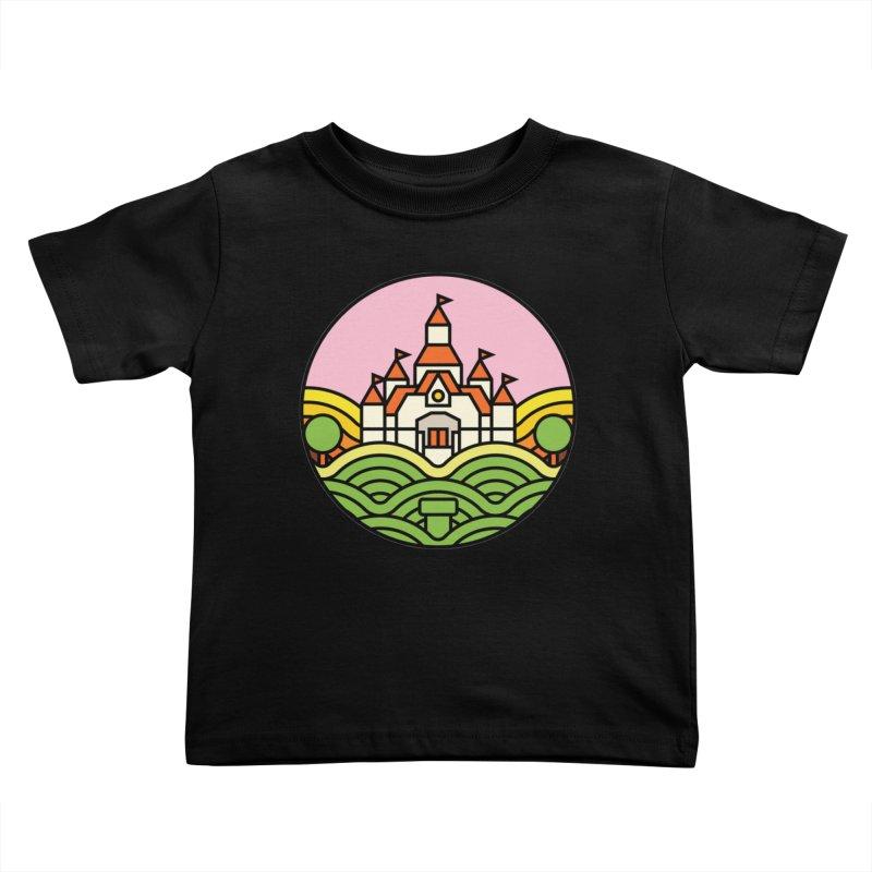 The Mushroom Kingdom Kids Toddler T-Shirt by jasoncryer's Artist Shop