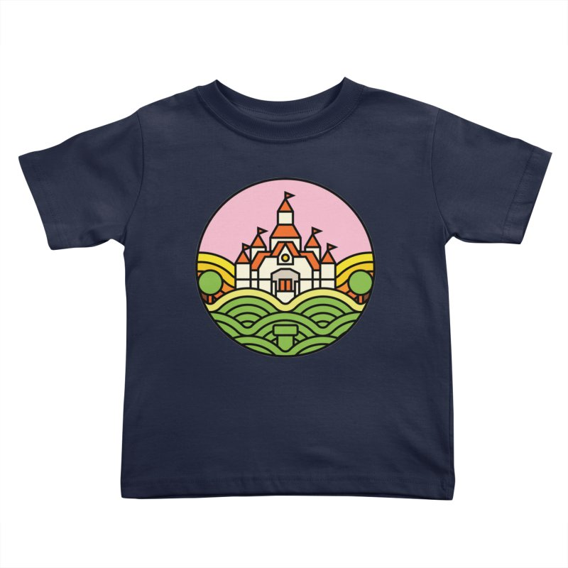 The Mushroom Kingdom Kids Toddler T-Shirt by Jason Cryer