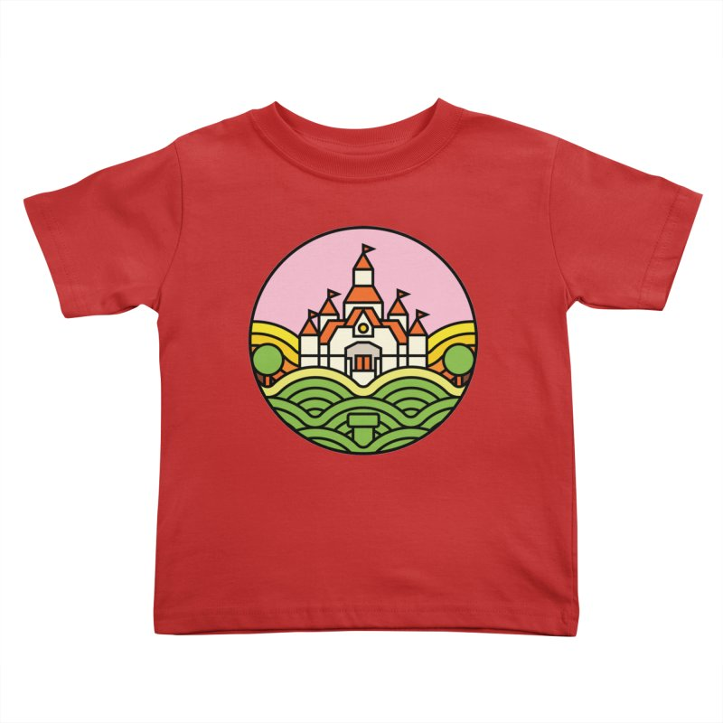 The Mushroom Kingdom Kids Toddler T-Shirt by jasoncryer's Artist Shop