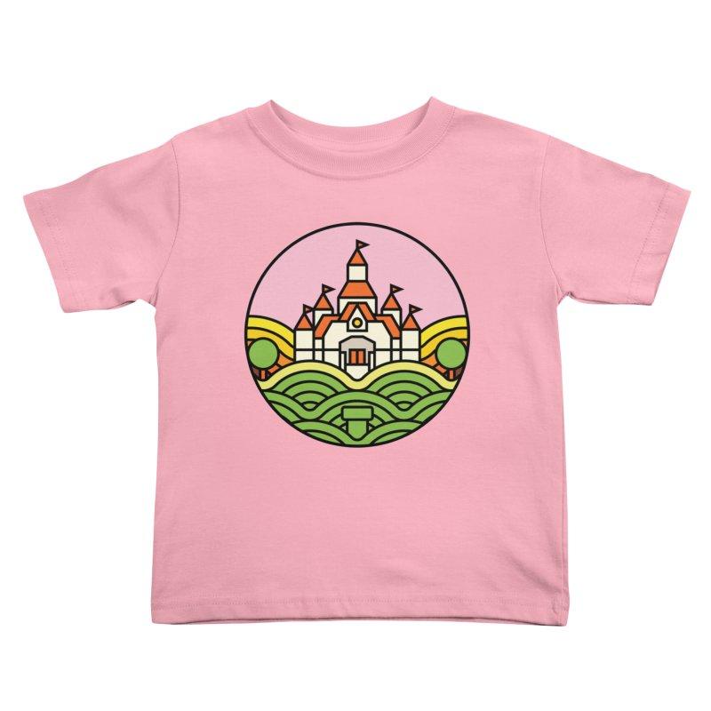 The Mushroom Kingdom Kids Toddler T-Shirt by Jason Cryer