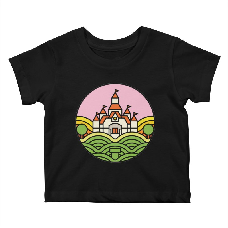 The Mushroom Kingdom Kids Baby T-Shirt by jasoncryer's Artist Shop