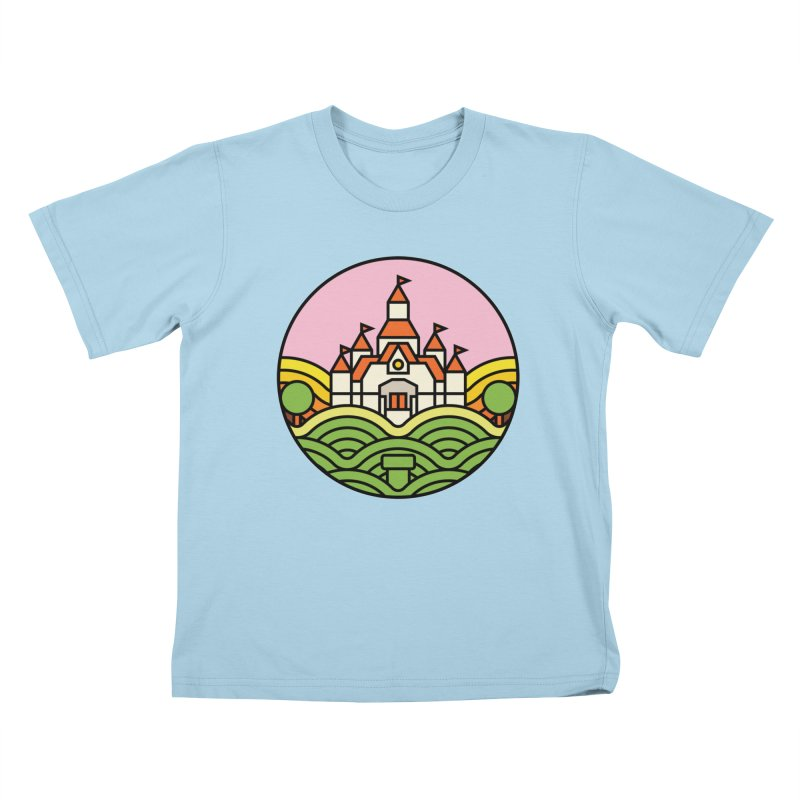 The Mushroom Kingdom Kids T-Shirt by Jason Cryer
