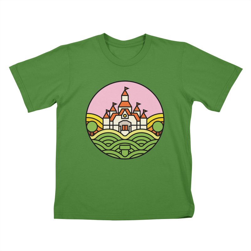 The Mushroom Kingdom Kids T-Shirt by jasoncryer's Artist Shop