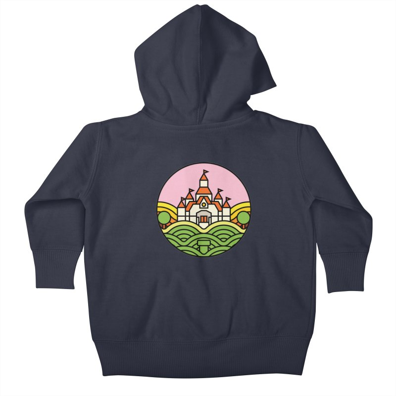 The Mushroom Kingdom Kids Baby Zip-Up Hoody by jasoncryer's Artist Shop