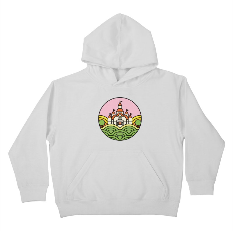 The Mushroom Kingdom Kids Pullover Hoody by Jason Cryer