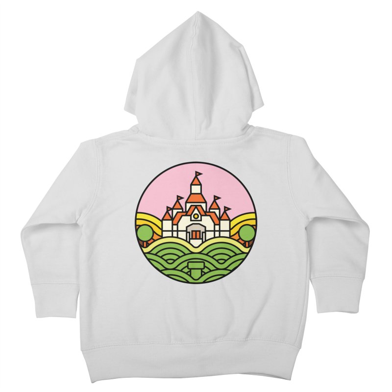The Mushroom Kingdom Kids Toddler Zip-Up Hoody by Jason Cryer