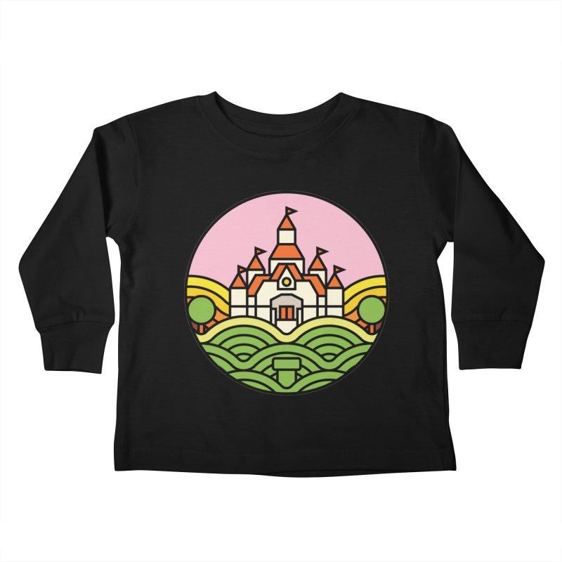 The Mushroom Kingdom Kids Toddler Longsleeve T-Shirt by jasoncryer's Artist Shop
