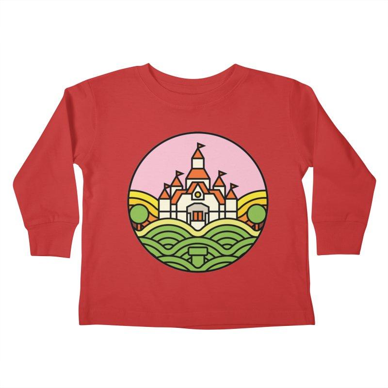 The Mushroom Kingdom Kids Toddler Longsleeve T-Shirt by Jason Cryer