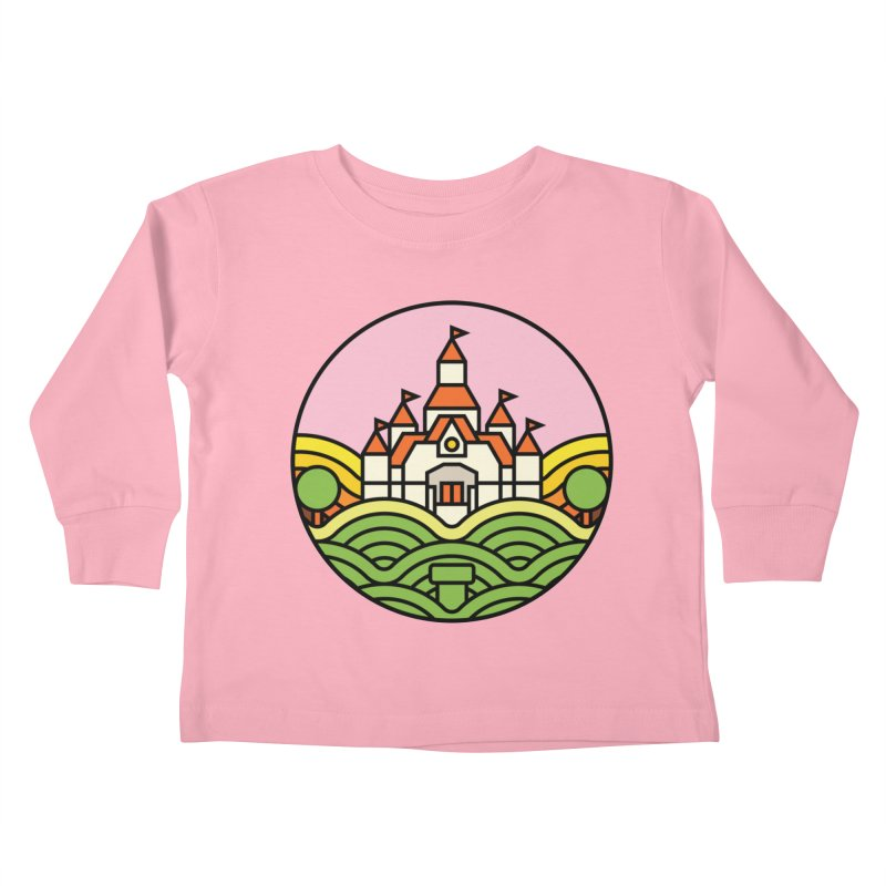 The Mushroom Kingdom Kids Toddler Longsleeve T-Shirt by jasoncryer's Artist Shop